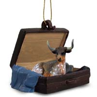 Long Horn Steer Traveling Companion Ornament