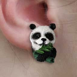 Panda Earrings Post