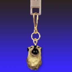 Wolf Timber Zipper Charm