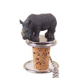 Rhinoceros Bottle Stopper