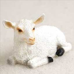 Goat White Tiny One Figurine