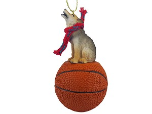 Wolf Timber Basketball Ornament