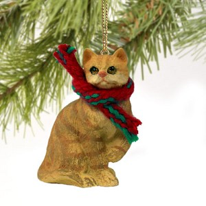 Red Shorthaired Tabby Cat Original Ornament