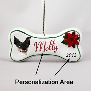 Rat Terrier Bone Ornament (Personalize-It-Yourself)