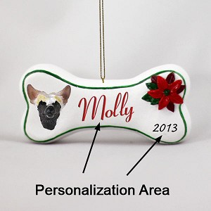 Chinese Crested Dog Bone Ornament (Personalize-It-Yourself)