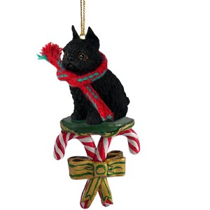 Brussels Griffon Black Candy Cane Ornament