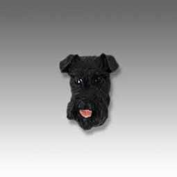 Schnauzer Black Tiny One head