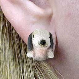 Bedlington Terrier Earrings Post