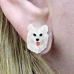 Samoyed Earrings Post