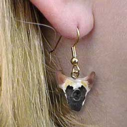 Chinese Crested Dog Earrings Hanging