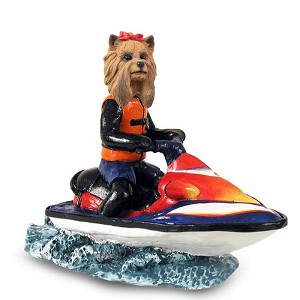 Yorkshire Terrier Jet Ski Doogie Collectable Figurine
