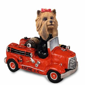 Yorkshire Terrier Fire Engine Doogie Collectable Figurine