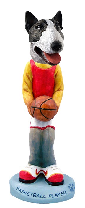 Bull Terrier Brindle Basketball Doogie Collectable Figurine