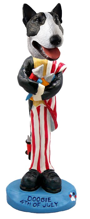 Bull Terrier Brindle 4th of July Doogie Collectable Figurine