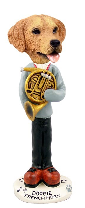 Golden Retriever French Horn Doogie Collectable Figurine