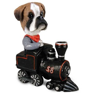 Boxer Uncropped Train Doogie Collectable Figurine