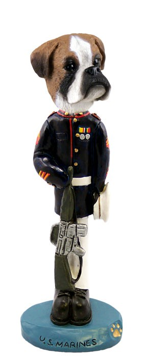 Boxer Uncropped U.S. Marines Doogie Collectable Figurine