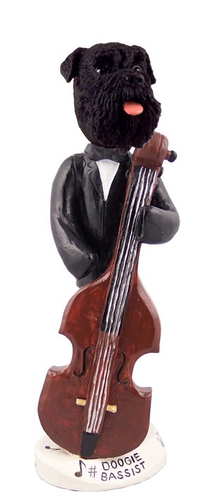 Schnauzer Black w/Uncropped Ears Bassist Doogie Collectable Figurine