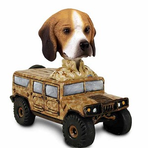 Beagle Hummer Doogie Collectable Figurine