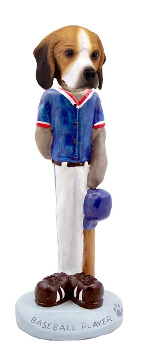 Beagle Baseball Player Doogie Collectable Figurine