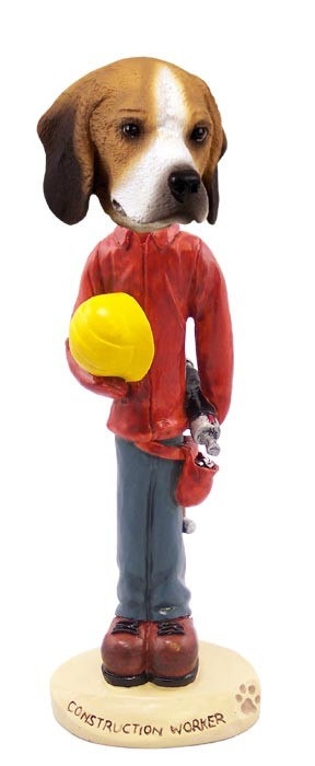 Beagle Construction Worker Doogie Collectable Figurine