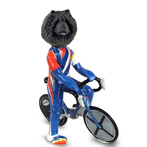 Chow Black Bicycle Doogie Collectable Figurine