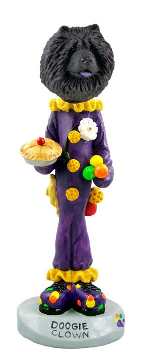 Chow Black Clown Doogie Collectable Figurine