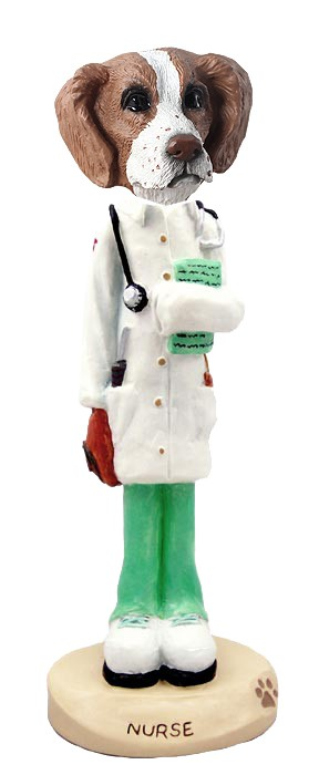 Brittany Brown & White Nurse Doogie Collectable Figurine