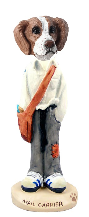 Brittany Brown & White Mail Carrier Doogie Collectable Figurine