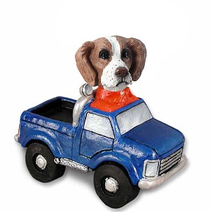 Brittany Brown & White Pickup Doogie Collectable Figurine