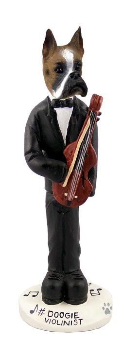Boxer Violinist Doogie Collectable Figurine