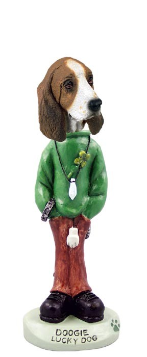 Basset Hound Lucky Dog Doogie Collectable Figurine