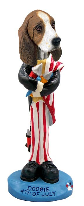 Basset Hound 4th Of July Doogie Collectable Figurine