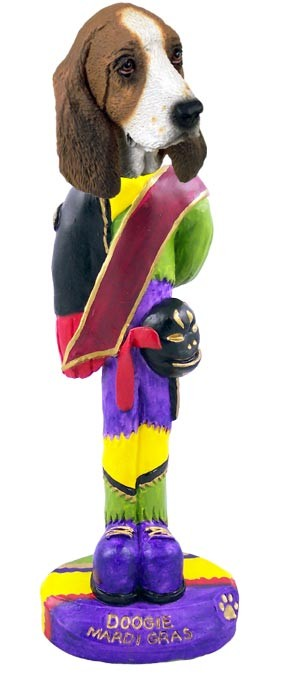 Basset Hound Mardi Gras Doogie Collectable Figurine
