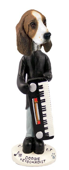Basset Hound Keyboardist Doogie Collectable Figurine