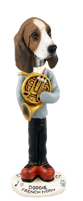 Basset Hound French Horn Doogie Collectable Figurine