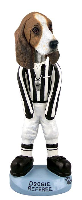 Basset Hound Referee Doogie Collectable Figurine