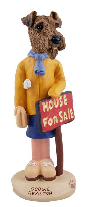 Airedale Realtor (female) Doogie Collectable Figurine