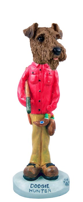 Airedale Hunter Doogie Collectable Figurine