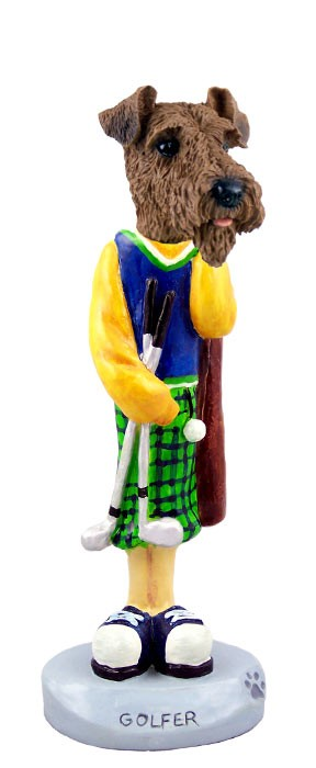 Airedale Golf Doogie Collectable Figurine