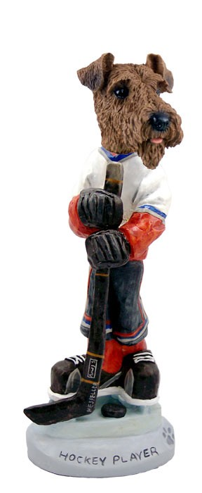 Airedale Hockey Player Doogie Collectable Figurine