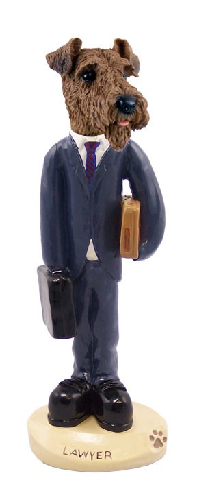 Airedale Lawyer Doogie Collectable Figurine