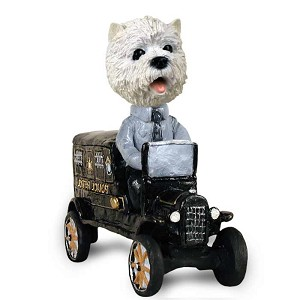 West Highland Terrier Paddy Wagon Doogie Collectable Figurine
