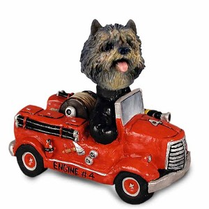 Cairn Terrier Brindle Fire Engine Doogie Collectable Figurine