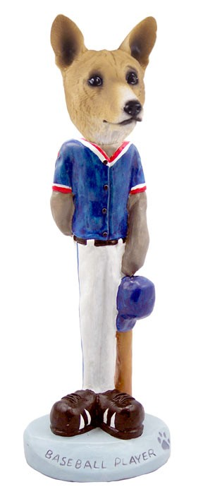 Basenji Baseball Doogie Collectable Figurine