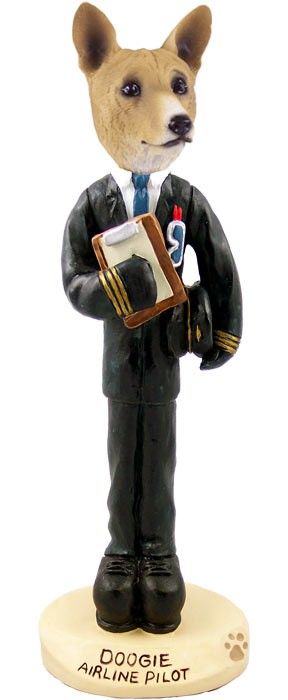 Basenji Airline Pilot Doogie Collectable Figurine