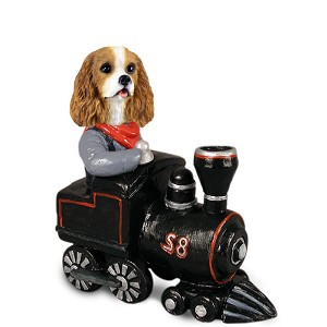 Cavalier King Charles Spaniel Brown & White Train Doogie Collectable Figurine