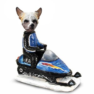 Chinese Crested Snowmobile Doogie Collectable Figurine