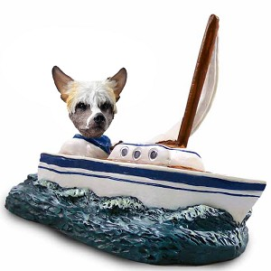 Chinese Crested Sailboat Doogie Collectable Figurine