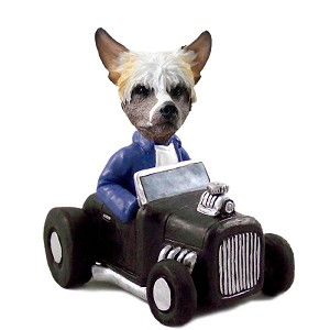 Chinese Crested Hot Rod Doogie Collectable Figurine